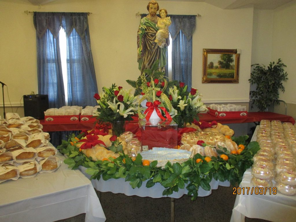 St Joseph Day Table<br>CANCELLED Due to COVID-19